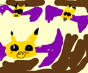 Pikachu and Golbat Fusion