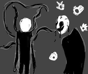 gaster vs slenderman drawception