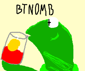 Kermit sipping his tea