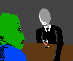 Pepe and Slender on a blind date