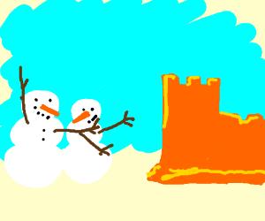 Snowmen vs Sandcastles