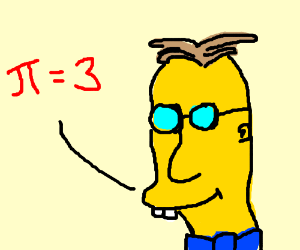 An incorrect approximation of pi
