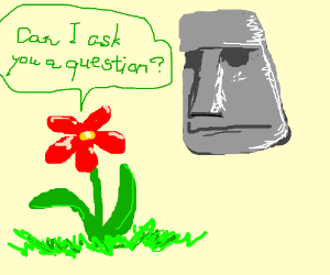 Red Flower questions Easter head