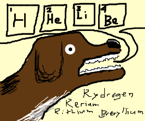 Dog can BArK the periodic table