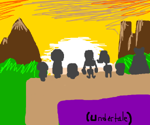 Undertale true Pacifist ending at sunset