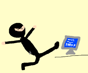 Ninja kicks computer with windows error