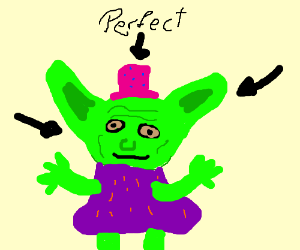 Yoda is perfect and fashionable