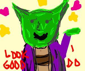 Purple looks good on Yoda AHUHUHU!