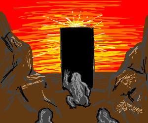 Apes discover the Monolith (2001: A.S.O)