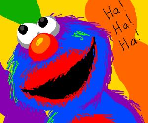 Elmo on lysergic acid diethylmide
