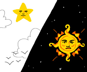 Star by day, sun by night!