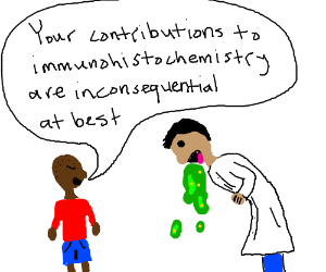 black kid insults vomiting mad scientist