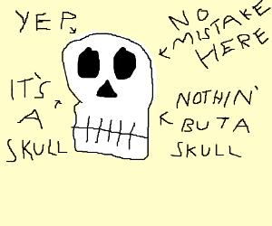 definitely a skull