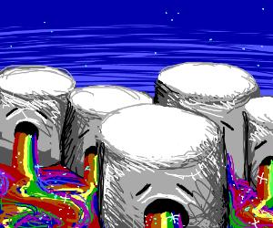 Fluffy Puft Marshmallows vomit rainbows