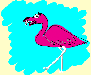 Ferocious flamingo