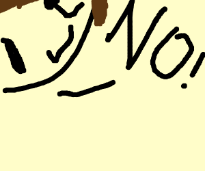 face says no