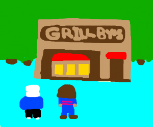sans and frisk at the bar