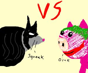 Batmouse  Vs The Porker