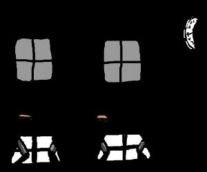 dark classroom