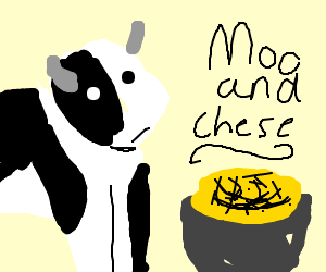 a cow's mac and cheese