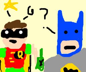 Batman doesn't understand drunk Robin