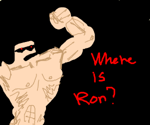 a fat muscled dude comes for Ronnie