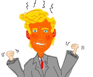 Donald Trump throwing a temper-tantrum.