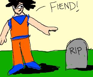 goku hates gravestones