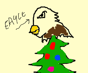 Guy uses eagle as decoration