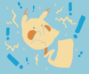 Shocked Chibi Pikachu