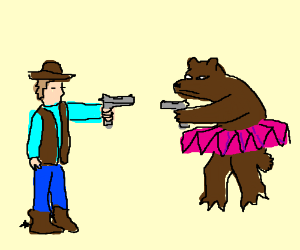 Image result for cowboy stand off