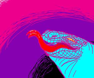 Blue komodo dragon