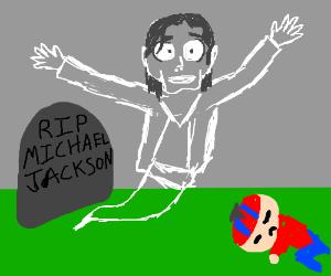 Michael Jackson scares little kids