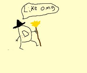 Drawception the teenage witch