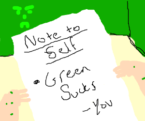 A note to self critiquing green