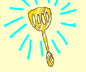 golden spatula drawing by and steven