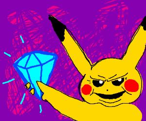Pickachu stole the diamond