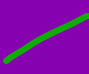 Green line on purple background.
