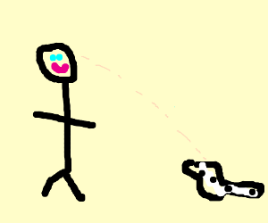 Man notices badger watching him