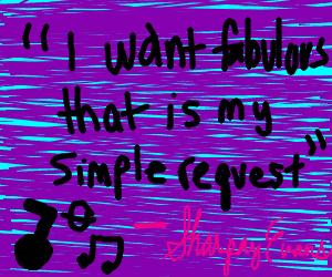 "A verse from a ""High School Musical"" song"