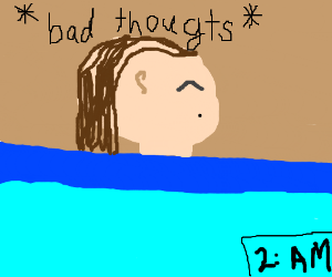 Girl has bad thoughts in the middle of night