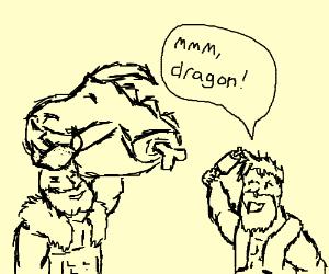 barbarians eating dragon dinner