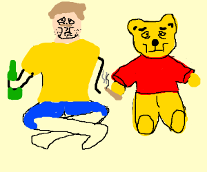 Christopher Robin as an adult