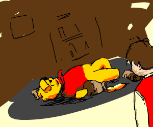 C. Robin and Winnie the Pooh doing drugs