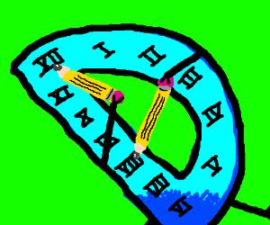 Drawception is a clock