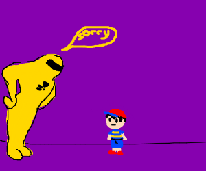 Starman apologizes to Ness for messing up game