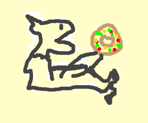 fat llama eats doughnuts