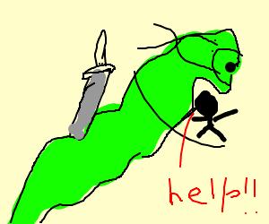 Man-eating ninja worm.