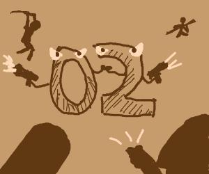 The battle against 02