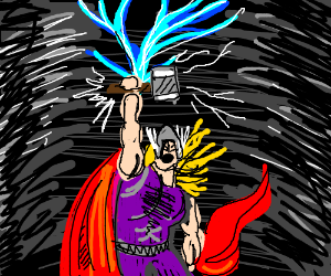 Thor and his mjolnir